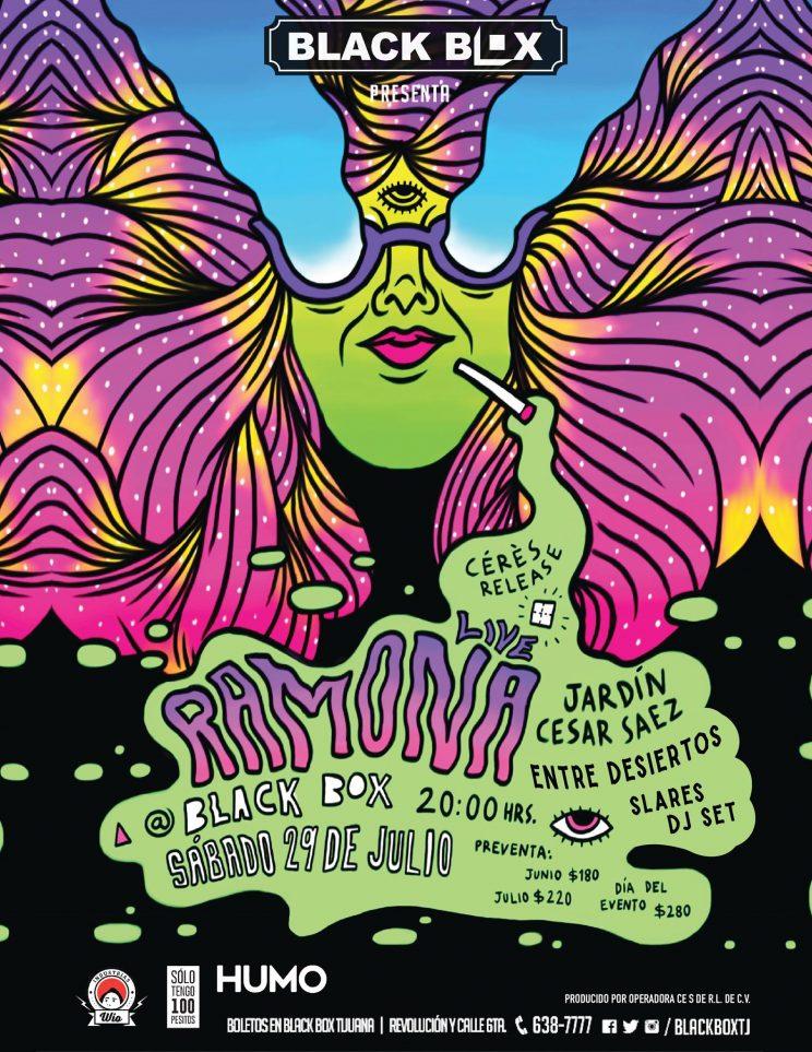 Ramona presenta nuevo disco en Black Box Tijuana