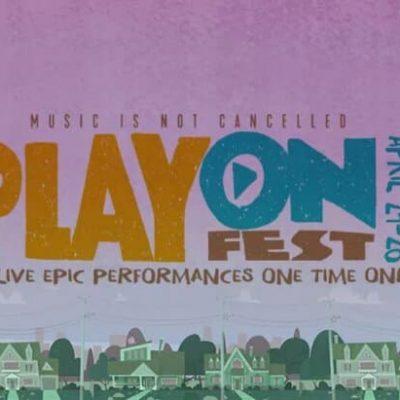 El Play On Fest está en marcha, serán tres días de conciertos vía streaming de manera gratuita