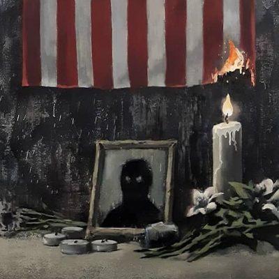 """""""El sistema le falla a las personas de color"""": Banksy homenajea con obra a George Floyd"""